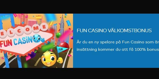 Begynn å spille på et morsomt online kasino som Fun Casino!
